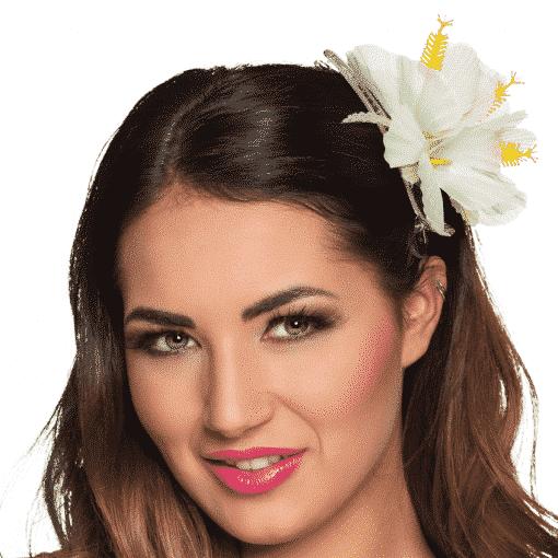 White Flower Hair Clip