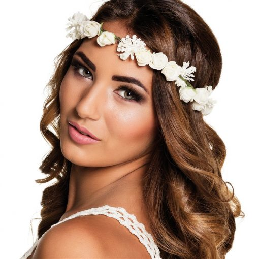 White Flower Headband
