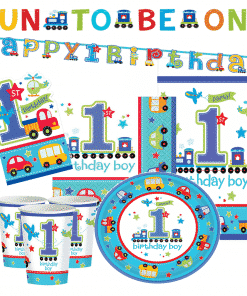 1st birthday Deluxe All Aboard Party Pack