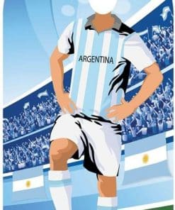 World Cup Football Argentina Stand-In Cutout Decoration