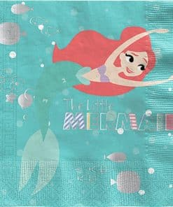 Ariel Under The Sea Party Paper Napkins