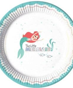Ariel Under The Sea Paper Plates - 23cm