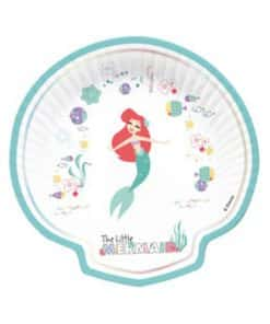 Ariel Under The Sea Party Paper Shell Plates
