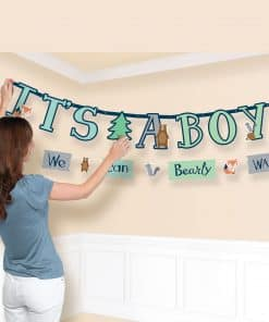 Bear-ly Wait Baby Shower Letter Banners
