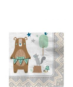 Bear-ly Wait Baby Shower Paper Beverage Napkins