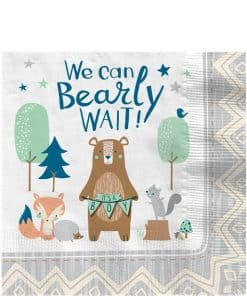 Bear-ly Wait Baby Shower Paper Napkins