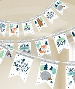 Bear-ly Wait Baby Shower Pennant Banner
