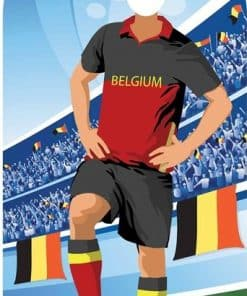 World Cup Football Belgium Stand-In Cutout Decoration