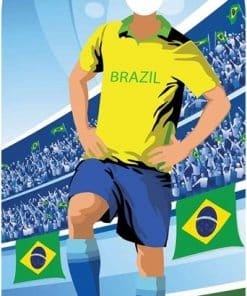 World Cup Football Brazil Stand-In Cutout Decoration