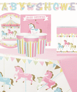 Carousel Baby Shower Deluxe Party Pack For 8