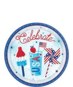 Celebrate USA Party Dessert Plates