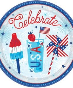 Celebrate USA Party Dinner Plates