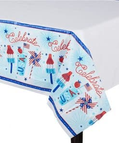 Celebrate USA Plastic Tablecover