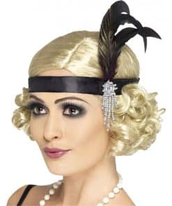 Charleston Flapper Black Headband