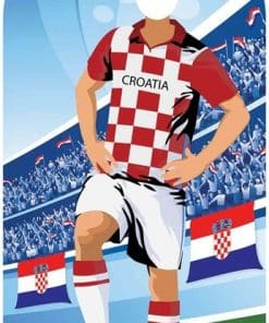World Cup Football Croatia Stand-In Cutout Decoration
