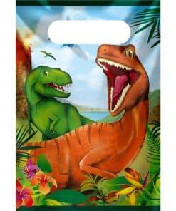 Dinosaur Adventure Party Plastic Loot Bags