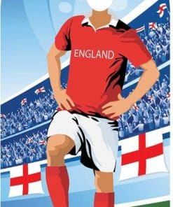 World Cup Football England Stand-In Cutout Decoration