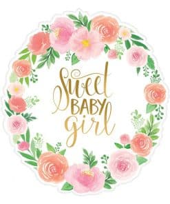 Floral Baby Party Cutout Decorations