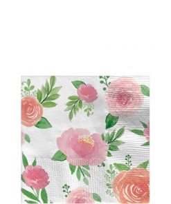 Floral Baby Party Paper Beverage Napkins