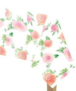 Floral Baby Party Paper Tablecover