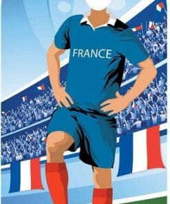 France Football Stand In