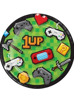 Game On Party Dessert Paper Plate