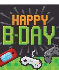 Game On Party 'Happy Birthday' Paper Napkins
