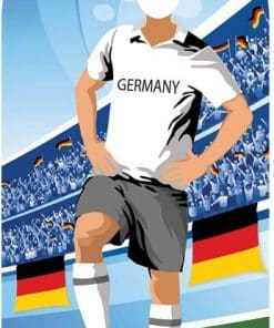 World Cup Football Germany Stand-In Cutout Decoration