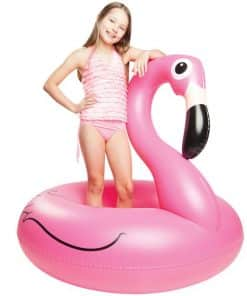 Giant Inflatable Pink Flamingo Pool Float 2