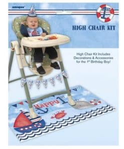 Nautical 1st Birthday Party High Chair Decorating Kit