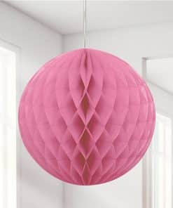 Hot Pink Honeycomb Ball Decoration