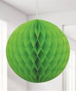 Lime Green Honeycomb Ball Decoration