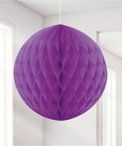 Purple Honeycomb Ball Decoration