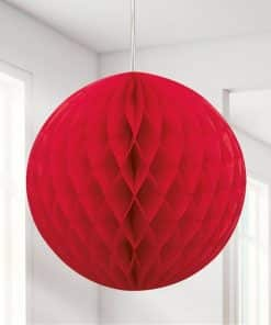 Red Honeycomb Ball Decoration