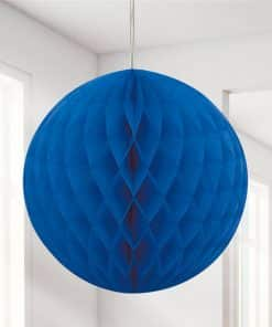 Royal Blue Honeycomb Ball Decoration