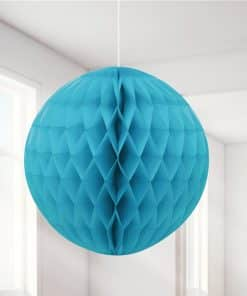 Turquoise Honeycomb Ball Decoration