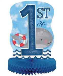 Nautical 1st Birthday Party Honeycomb Centerpiece