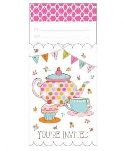 Afternoon Tea Time Party Invitations