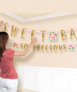 Floral Baby Party Letter Banners
