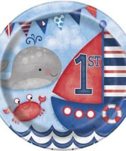 Nautical 1st Birthday Party Paper Plates