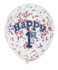 Nautical 1st Birthday Party Confetti Balloons