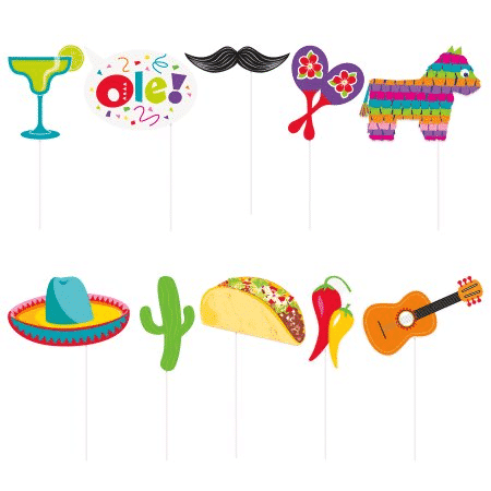 Mexican Fiesta Party Photo Booth Props Fun Party Supplies