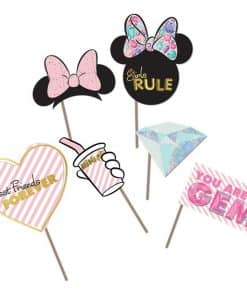 Minnie Gem Party Photo Props