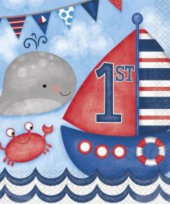 Nautical 1st Birthday Party Paper Napkins