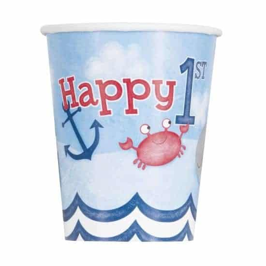 Nautical 1st Birthday Party Paper Cups