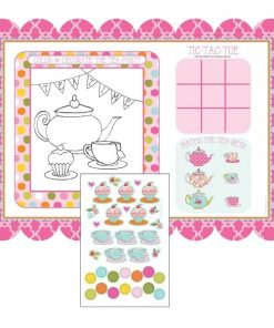 Afternoon Tea Time Party Placements with Stickers