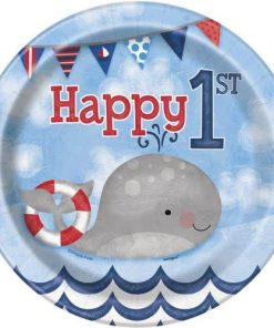Nautical 1st Birthday Party Paper Dessert Plates