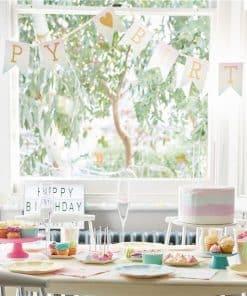Pastel Ombre 'Happy Birthday' Paper Banner