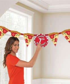 Pizza Party Jumbo Add-an-Age Banner