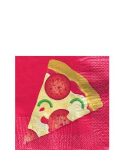 Pizza Party Paper Cocktail Napkins